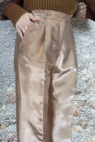Light bronze metallic pants  image