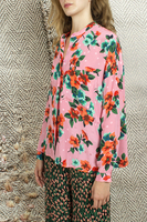 Oversized floral printed shirt  image