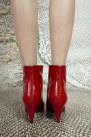 Lipstick red patent leather ankle boots  image