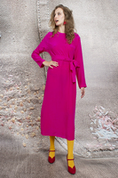 Silk dress with waist ties  image