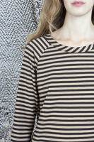 Brown striped long sleeve top  image
