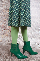 Emerald green patent leather ankle boots  image
