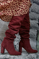 High heel over the knee suede boots  image