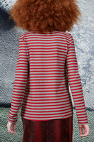 Red and grey striped t-shirt  image