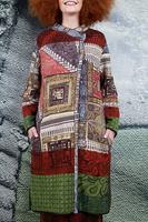 Asymmetrical Printed knit coat  image