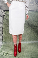White Pencil Skirt  image