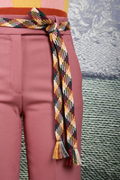 Multicoloured Plaited Belt  image