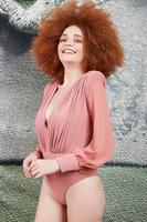 Dusty Rose long-sleeved bodysuit  image