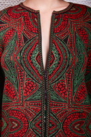 Zip front patterned cardigan  image
