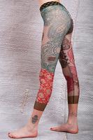 Floral dotted print trompe l'oeil leggings image