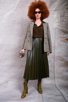 Pleated full midi skirt  image