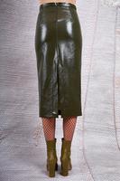 Khaki pencil skirt  image