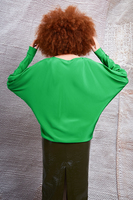 Green silk batwing blouse  image