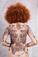 Mermaid tattoo print trompe l'oeil top image