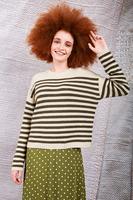 Oversized striped sweater  image