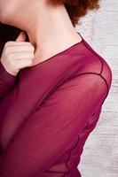 Long sleeved mesh top image