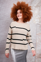 Offset striped wool sweater  image
