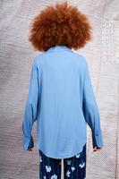 Dusty blue long sleeved shirt  image