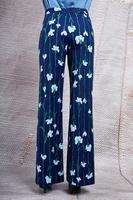 Linear floral motif tailored pants  image