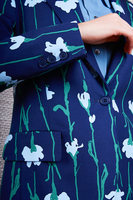 Linear floral motif tailored blazer  image