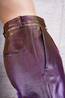 Violet and gold metallic pants  image