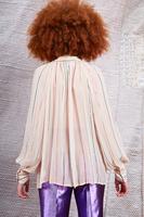 Beige blouse with multicolour metallic stripes image