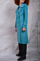 Teal double breasted coat  image