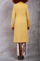 Sunflower yellow double breasted coat  image