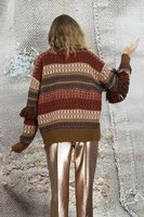 Textured Sweater with Fringe  image