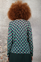 Geometric patterned printed sweater  image