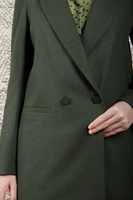 Military green double breasted boyfriend blazer  image