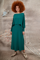 Forest green two piece dress  image