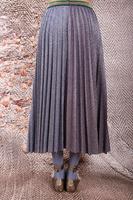 Full pleated lurex skirt  image