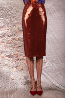Rust sequin pencil skirt  image