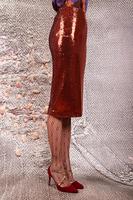 Rust sequin pencil skirt  image