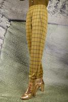 Check jersey jacquard tapered pants  image