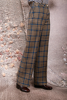 Wide leg houndstooth check pants  image