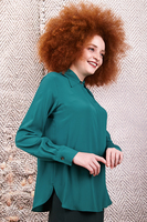 Dark emerald long sleeved shirt image