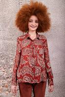 Brick paisley print shirt  image