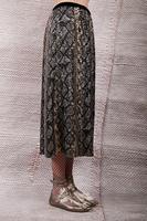 Snakeskin printed sequin skirt image