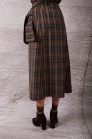 Side tie column plaid skirt  image