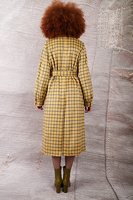 Yellow check coat with full sleeves  image