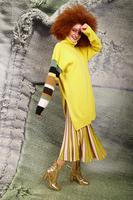 Sunny yellow extra long turtleneck  image