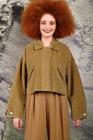 Oversized corduroy cropped jacket  image