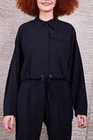 Pinstripe cropped jacket  image