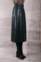 Bottle green a-line skirt  image