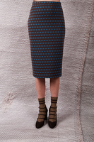 Jersey jacquard pencil skirt  image