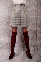 High waisted houndstooth check shorts  image