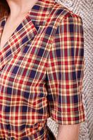 Short sleeve plaid jumpsuit image