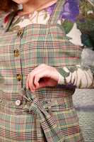 Belted check dungarees image